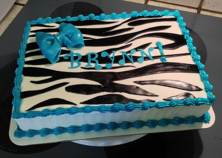 Nothing Dresses Up A Zebra Striped Sheet Cake Like A Big