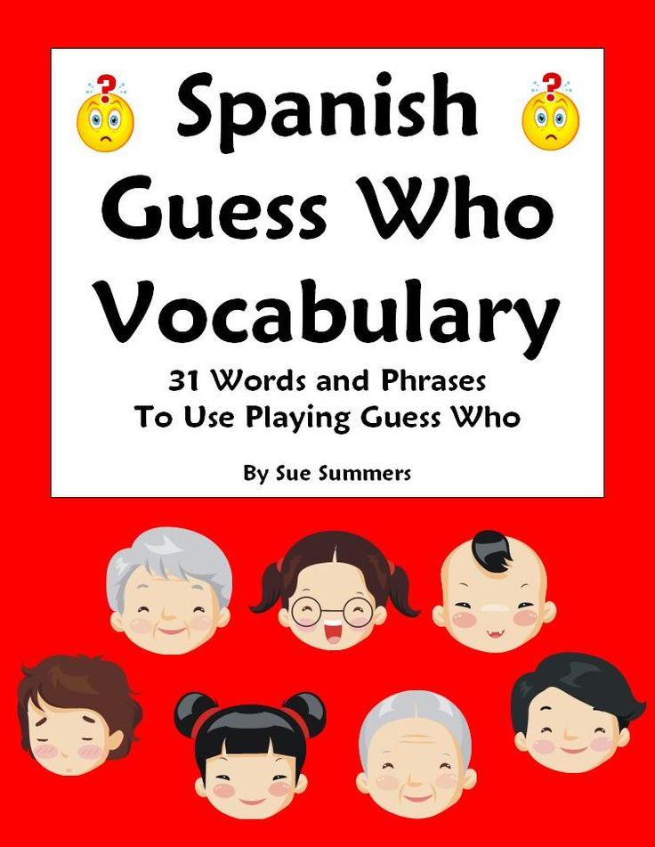 How Say Guess What Spanish