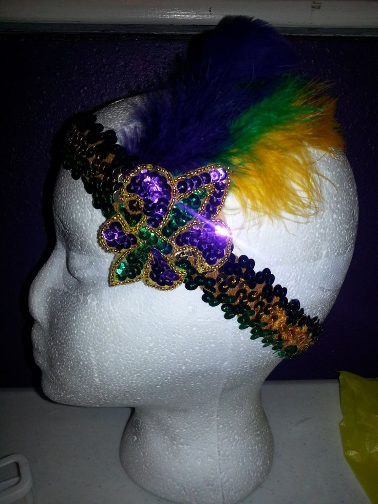 Mardi Gras Headband By HollieesCreations On Etsy 1300