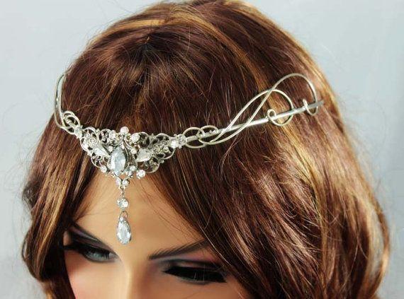 Silver Circlet Victorian Headpiece Tiara Renaissance
