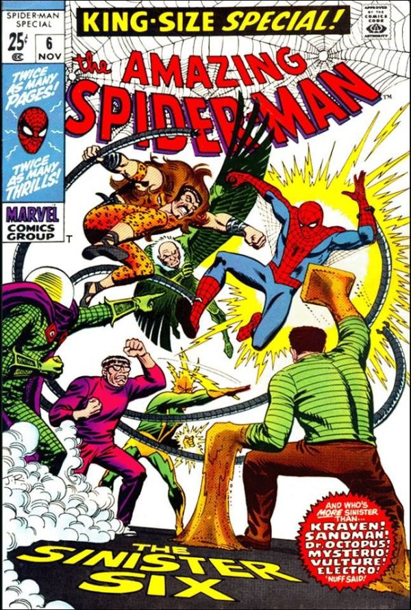 Sinister Six! - Spider-Man King-Size Special #6 | Comic ...