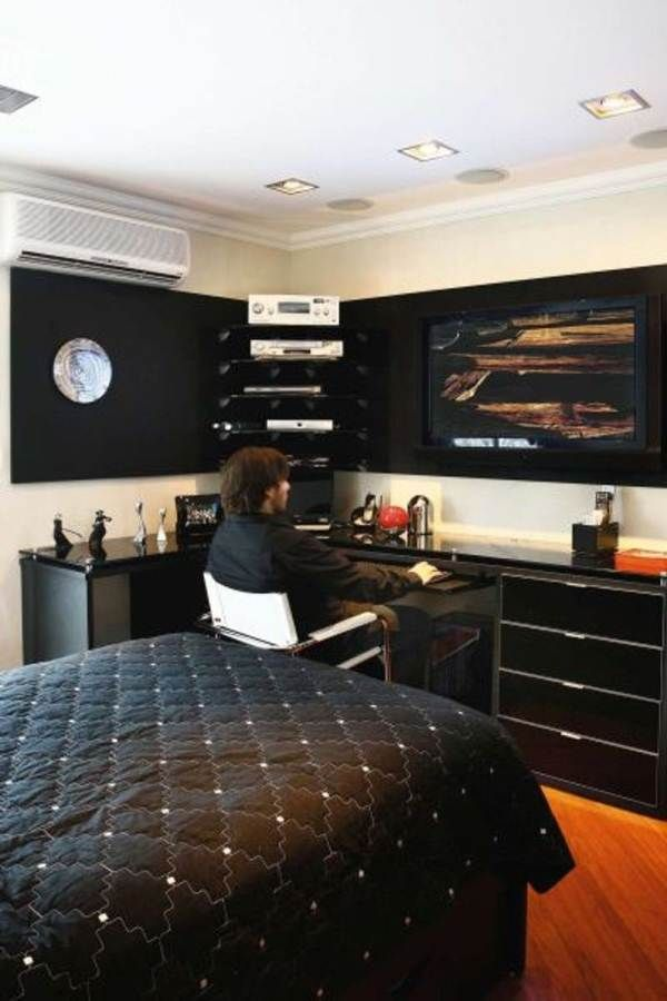 Bedrooms Cool Male Room Decorating Ideas With Black Concept Masculine Bedroom As Well Together High Quality Mens