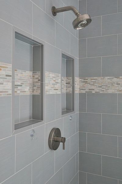 Shower Niche With Detail Stripe Have Stripe Go