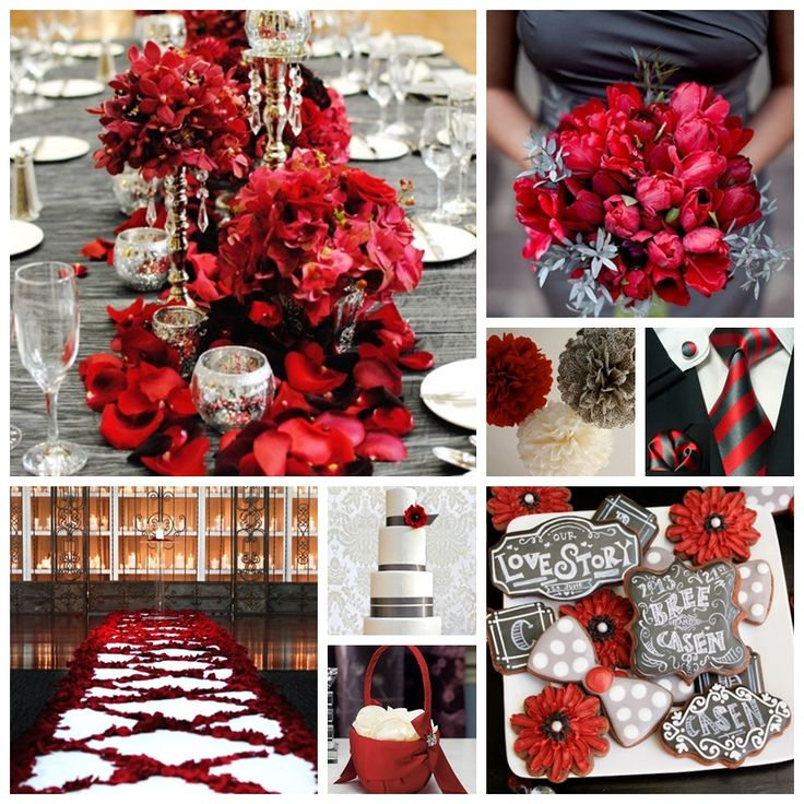 25 Best Ideas About Red Grey Wedding On Pinterest Red