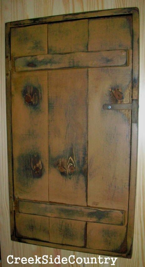 Primitive Wood Circuit Breaker Fuse Box Cover By
