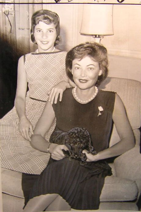 Gene Tierney and daughter Christina Cassini Gene Tierney