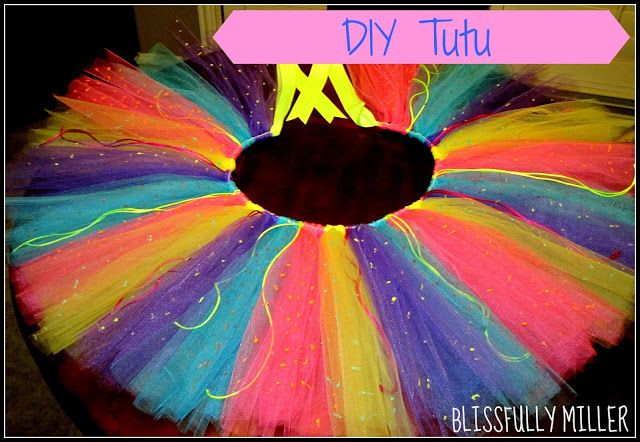 For the Glow Run Blissfully Miller: DIY Tutu – Saw It, Pinned It, Did