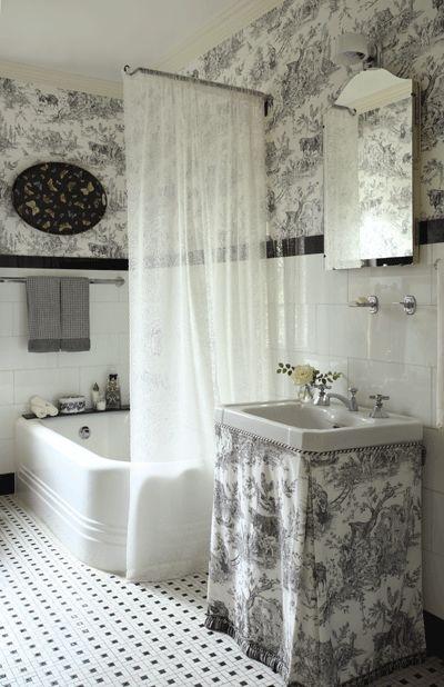 Toile Bathroom Google Search Toile Bathroom Pinterest Search Toile Wallpaper And Bath