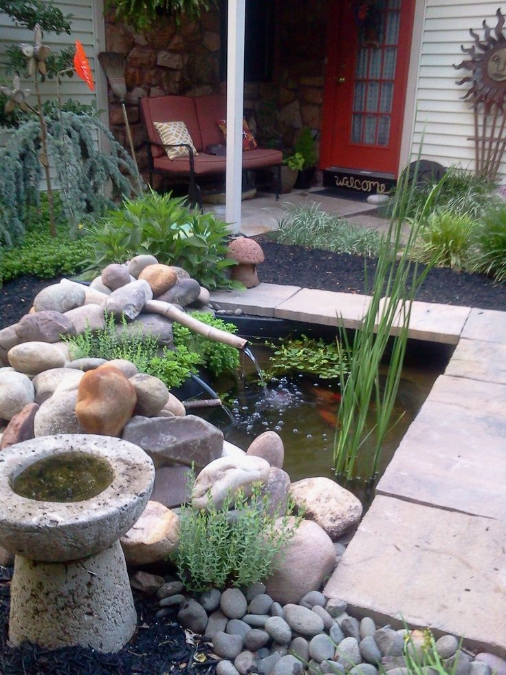 17 Best images about Koi Ponds on Pinterest | Small garden ... on Small Backyard Pond  id=28721