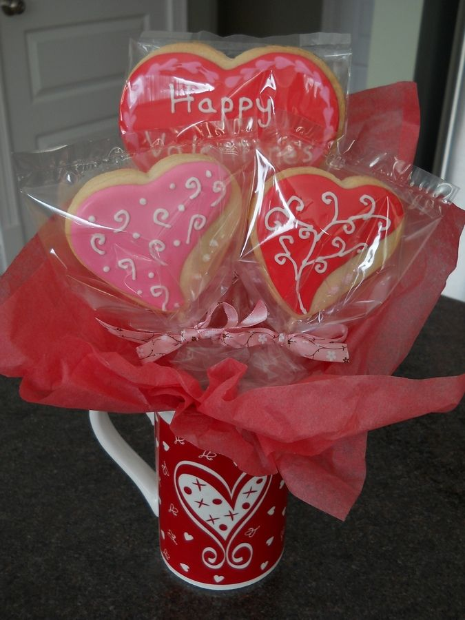 Valentines Cookie Bouquet Valentines Cookies And