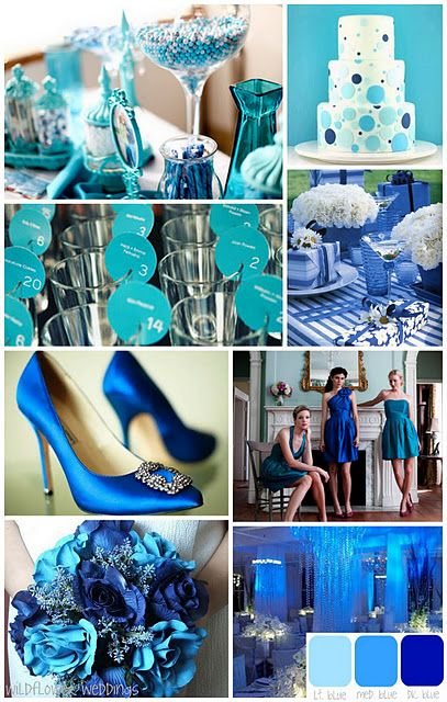 Shades Of Blue Wedding Colors Love The Colors Wedding