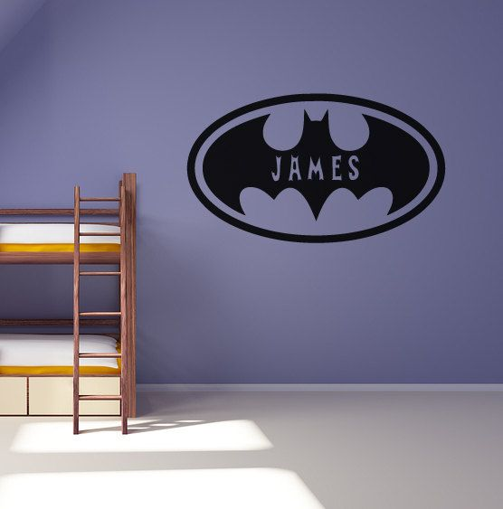 personalised batman wall sticker boys bedroom decal on wall stickers for bedroom id=56662