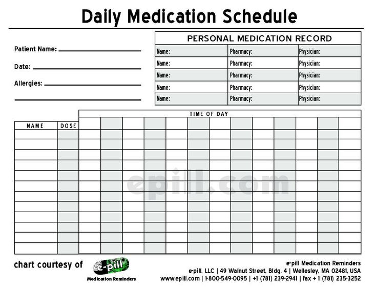 Free DAILY Medication Schedule Free DAILY Medication Chart To Medicine Pinterest