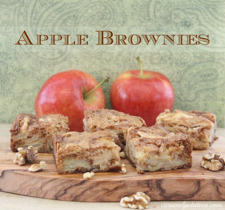 Apple Brownies.  These moist and delicious blondies are quick and fabulous!