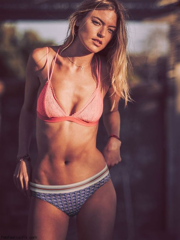 Stunning Martha Hunt flaunts her abs for Victoria's Secret ...