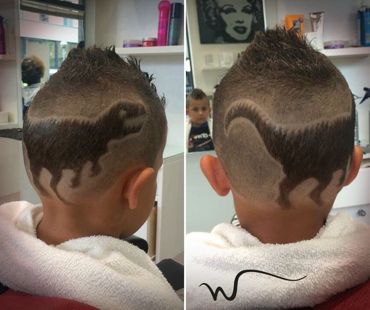 Wenzy Wave Dinosaur Preistoria Hair Cut Hair Tattoo