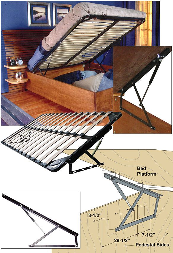 Woodworker Com Storage Bed Frame And Lift Kits Queen With