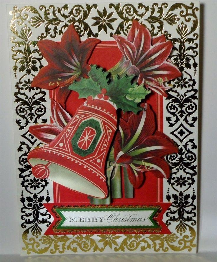Christmas Bells Holiday Greeting Card Handmade Anna