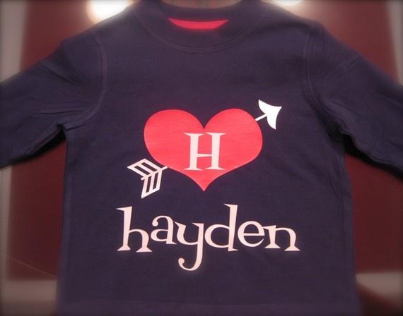 Personalized Boys Valentine Shirt By Thetrendyturnip On
