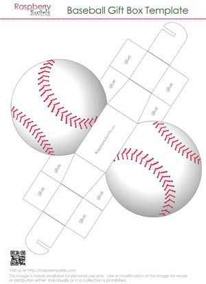 Baseball Gift Box Template Box And Paper Pinterest