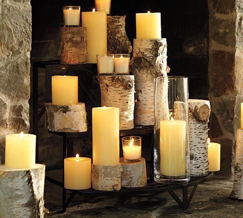 very cool idea for a non-working fire place ♥ – candles