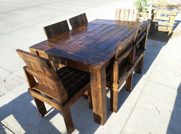 25+ Best Ideas About Pallet Dining Tables On Pinterest