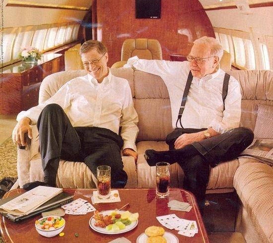 Bill Gates And Warren Buffet On Board Berkshire Hathaways