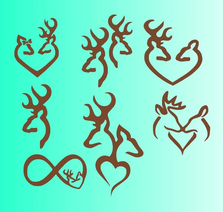 Download browning deers in love SVG files for Silhouette studio and ...