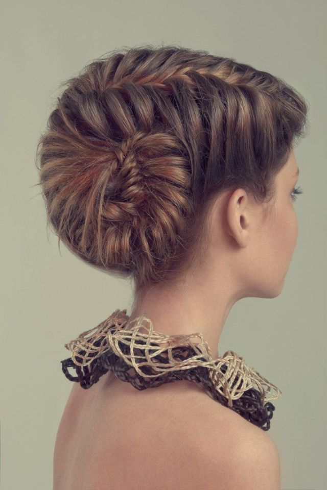 Unusual braided  updo  hairstyles  hairstyle  hair long