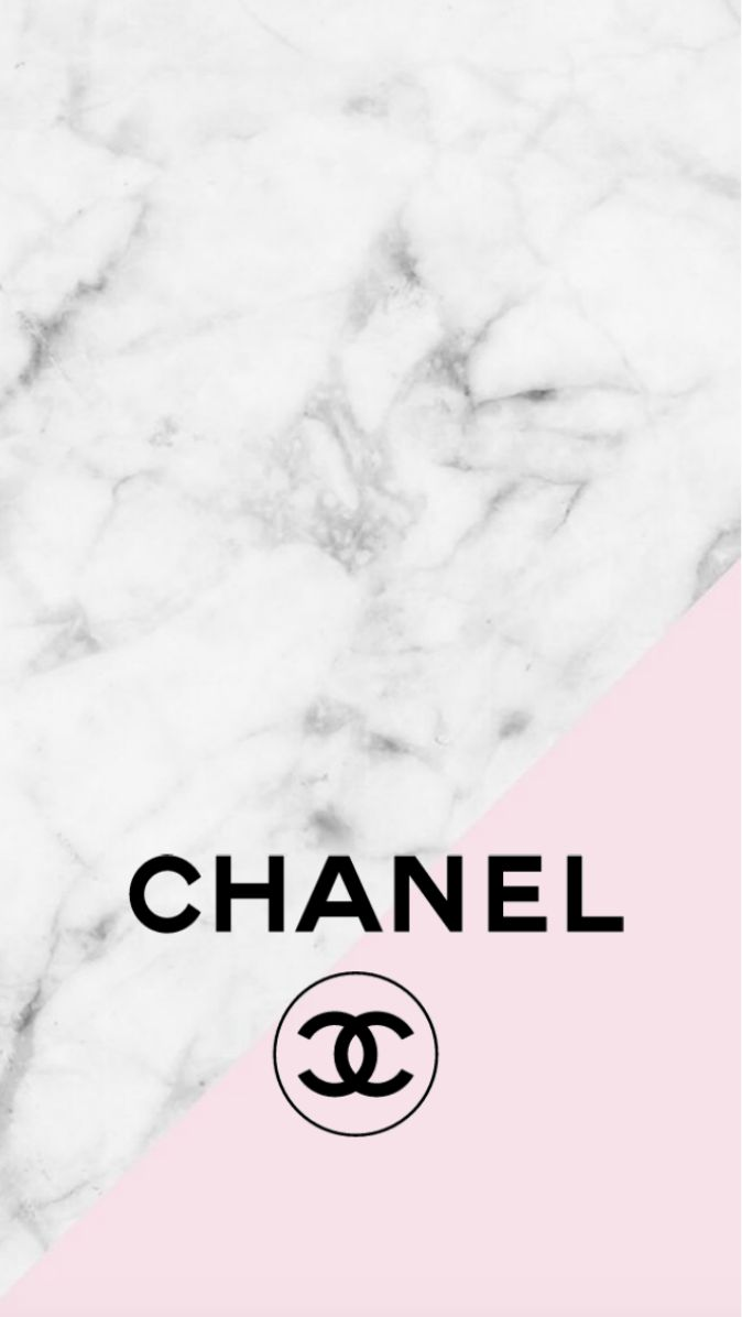 Chanel Logo Pink Marble Iphone Background Mine Pinterest Chanel Logo