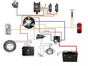 simplified wiring diagram for xs400 cafe | Motorcycle