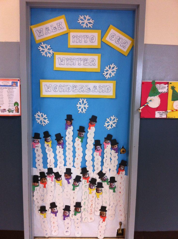 Classroom Door For January Classroom Decorating