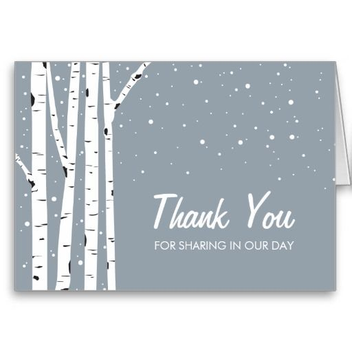 17 Best Images About Winter And Snowflake Thank You Card