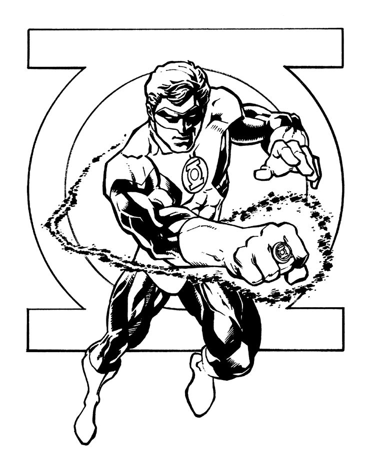 logo green lantern coloring pages for kids printable free