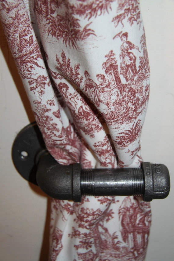 Steel Pipe Hangercurtain Tie Back By DutchMommaDesigns On Etsy 1800 Home Ideas Pinterest