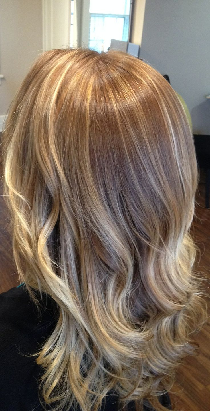 Balayage On Golden Blonde With California Blonde Inspired