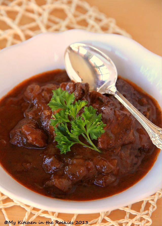 German Beef Goulash & Winner of the Cookbook Tasting Colorado—– This is really good. I've never had German goulash before. This