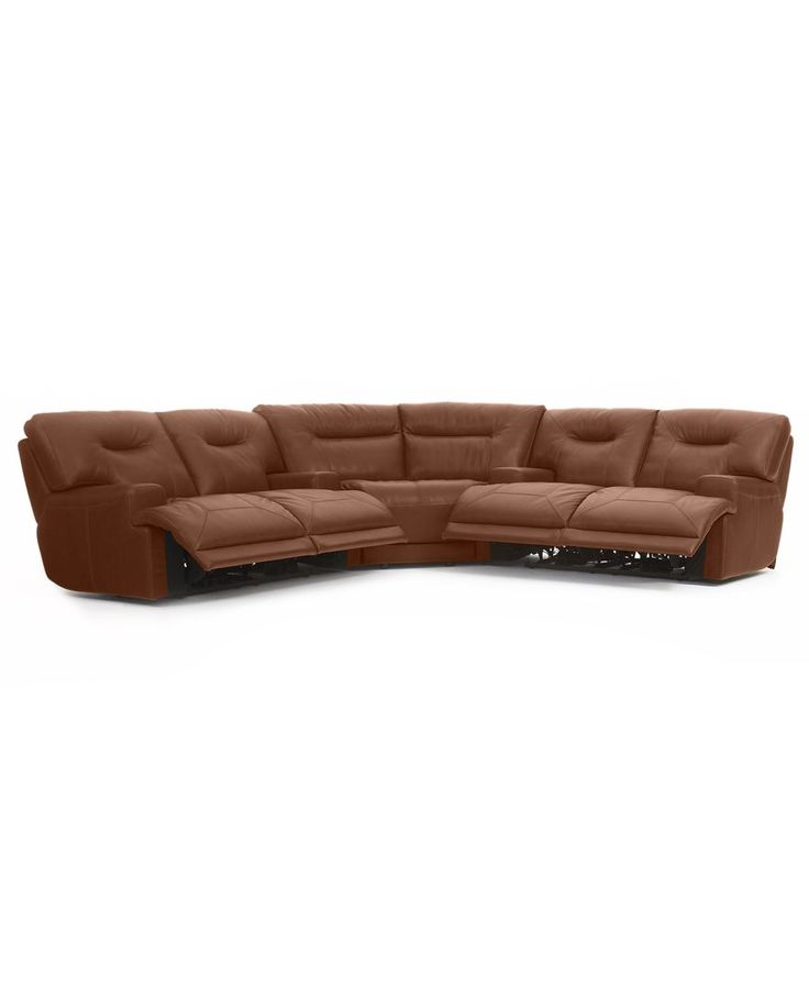 Ricardo Leather 3 Piece Power Reclining Sectional Sofa 2