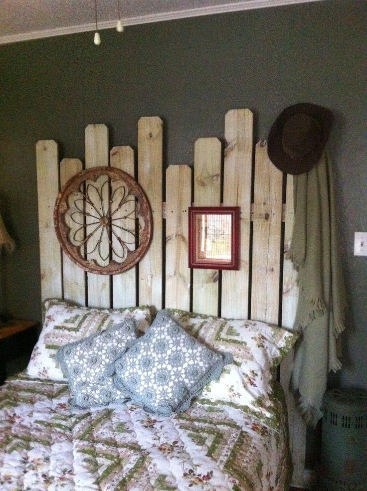 Western Headboard Made From Fence Boards 11 DIY