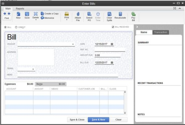 QuickBooks 2013 screenshots