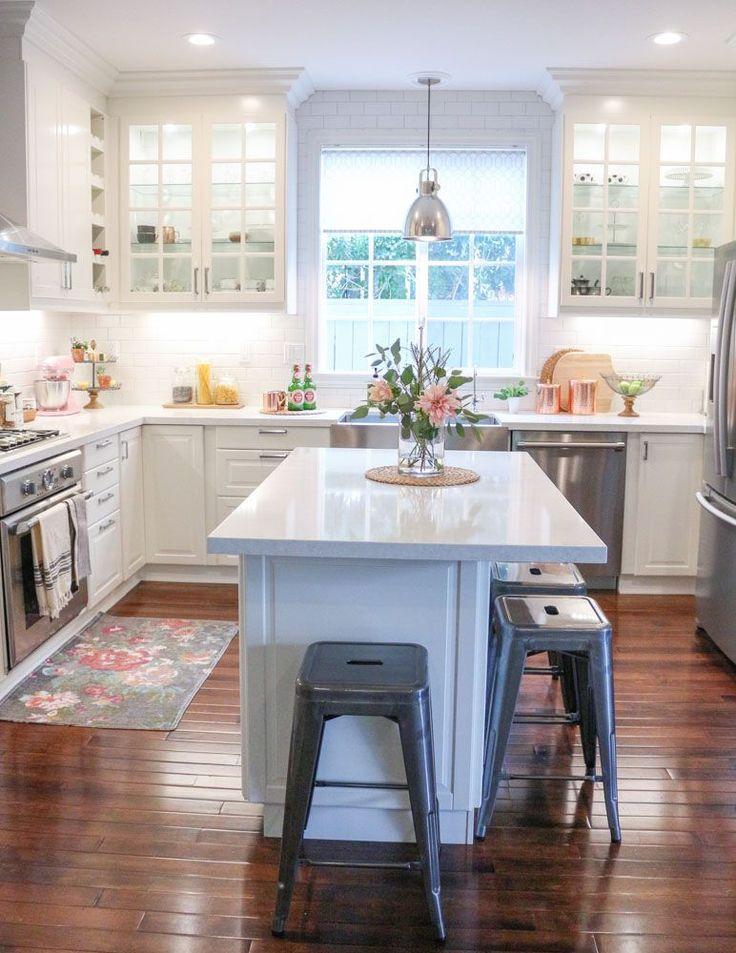 White Kitchen Ideas Island