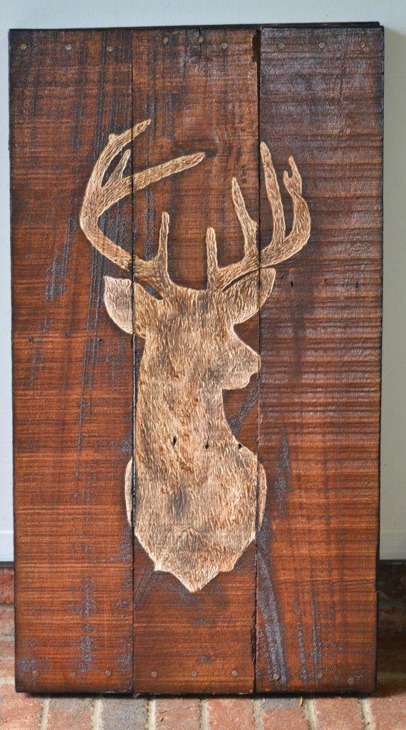 Buck wooden pallet art
