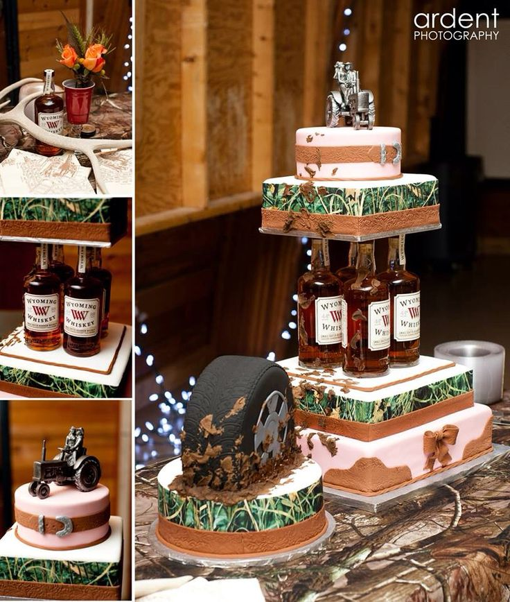 Camo Wedding Cake Redneck Wedding Cake Country Wedding