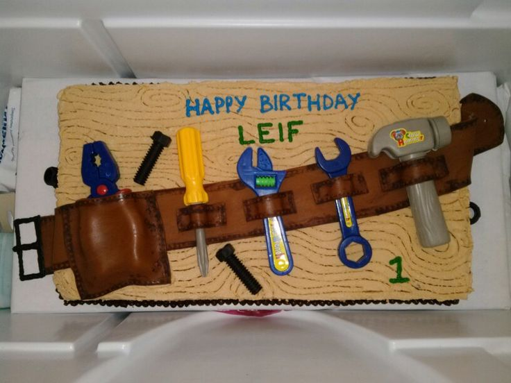 Master Carpenter Cake Great For My Dads 59 Bday Cakes