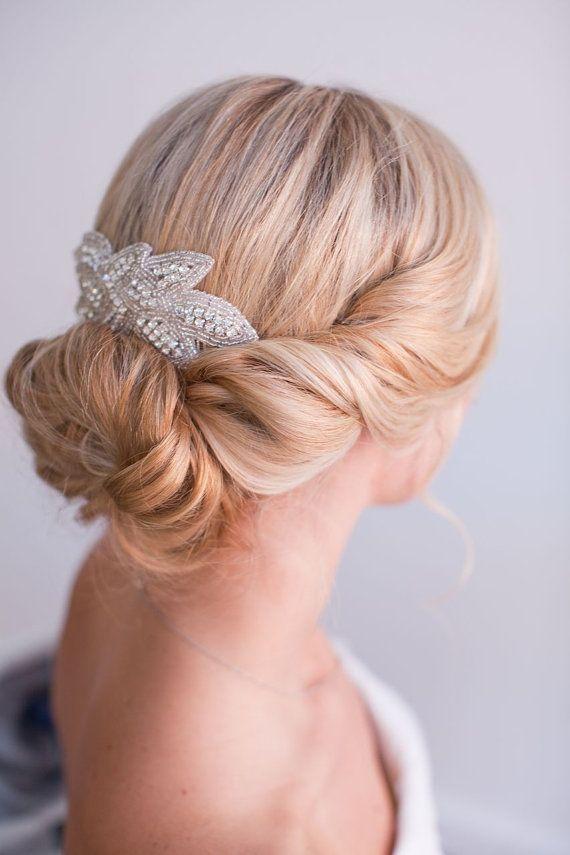 Jada Bridal Hair Piece  Rhinestone Hair  comb by