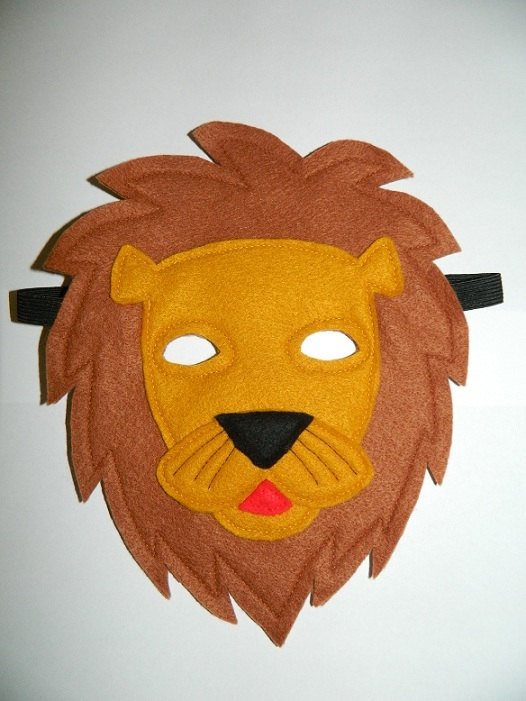 Childs Felt Play Mask Lion By SharonsPuppets On Etsy 25
