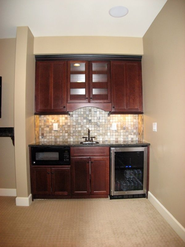 29 best images about Small basement wet bar ideas on Pinterest on Small Wet Bar In Basement  id=62735