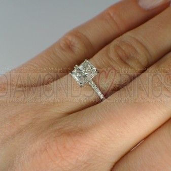 1 Carat Emerald Cut Halo Engagement Rings On Hand 37 I