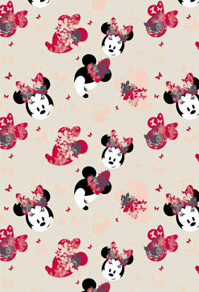 This Minnie Mouse Design Is So Pretty Disney Wallpapers