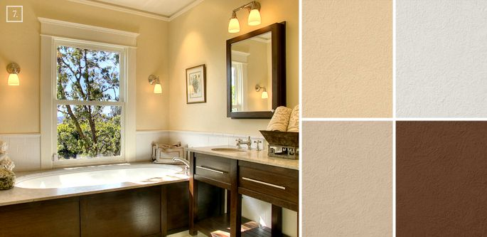 bathroom color ideas palette and paint schemes trees on interior paint scheme ideas id=41711